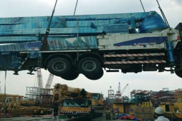 Discharging-of-pump-truck